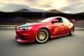 Картинка красный, скорость, Mitsubishi, EVo