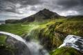Картинка горы, природа, водопад, Исландия, Iceland