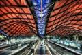 Картинка крыша, путь, конструкция, вокзал, платформа
