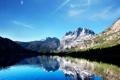 Картинка небо, солнце, горы, природа, озеро, отражение