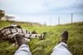 Картинка трава, отдых, ноги, ботинки