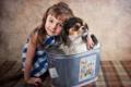 Картинка собака, девочка, друзья