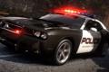 Картинка дорога, полиция, погоня, need for speed, Dodge Challenger, hot pursuit