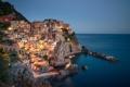 Картинка море, пейзаж, скалы, побережье, здания, Италия, Italy
