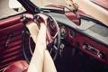 Картинка машина, фон, ноги