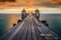 Картинка thailand, Wooded bridge, pattaya, morning, pier, sunrise, phuket