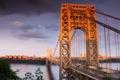 Картинка природа, город, река, мост