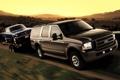 Картинка Ford, Mustang, закат, внедорожник, форд, Excursion, дорога
