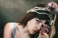 Картинка взгляд, девушка, розы