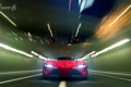 Картинка лучи, красный, огни, фары, лого, Toyota, автомобиль