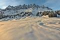 Картинка зима, лес, снег, деревья, горы