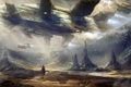 Картинка горы, spaceship, visitors