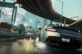 Картинка car, мост, Aston Martin, гонка, трасса, Need For Speed Most Wanted