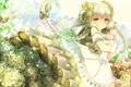 Картинка девушка, цветы, улыбка, розы, аниме, арт, рога