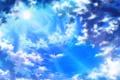 Картинка Beautiful sunlight, облака, небо, солнце, голубое, лучи, красота