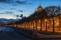 Картинка дорога, ночь, огни, улица, фонари, Russia, питер