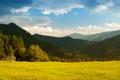Картинка landscape, пейзаж, nature, трава, небо, mountains, 1920x1080