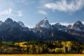 Картинка лес, пейзаж, горы, природа, панорама