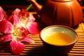 Картинка цветы, еда, чайник, чашка, орхидея