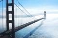 Картинка туман, пролив, Мост, Сан-Франциско, Золотые Ворота, Golden Gate Bridge, San Francisco