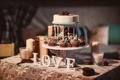 Картинка пирожное, шишки, candles, cake, cones, sweets, свечи