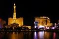 Картинка Ночь, фото, Город, Дома, Река, Лас-Вегас, США