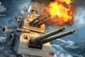 Картинка огонь, World Of Warship, пушки, Pensakola, морской бой, дым, 1944