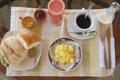 Картинка завтрак, булочки, кофе, омлет