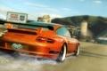 Картинка брызги, город, гонка, Need for Speed Undercover, Porsche gt3 rs