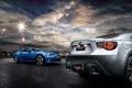 Картинка облака, диск, Синий, Subaru, BRZ, Бампер, Выхлоп