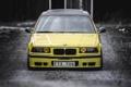 Картинка BMW, Тюнинг, БМВ, Желтая, Фары, E36, Stance