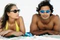 Картинка пляж, женщина, мужчина