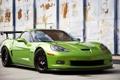 Картинка авто, зеленый, Z06, Corvette, Chevrolet, Шевроле, спорткар
