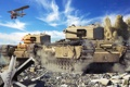 Картинка tank, самолёт, United Kingdom, танк, танки, Великобритания, World of Tanks