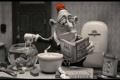 Картинка мультфильм, мужик, пластилиновый, мэри и макс, с кипятильником в аквариуме