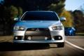 Картинка Дорога, Машина, Серый, Движение, Мицубиси, Машины, Mitsubishi