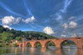 Картинка мост, река, Германия, Germany, Хайдельберг, Heidelberg, Neckar