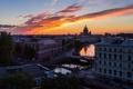 Картинка высота, здания, вечер, питер, санкт-петербург, дома, Russia