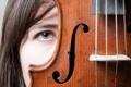 Картинка девушка, макро, скрипка