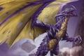 Картинка крылья, зубы, Дракон, лапы, шипы, пасть, когти