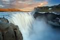 Картинка природа, водопад, утро