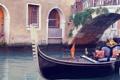 Картинка Италия, Венеция, канал, гондола