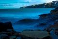 Картинка камни, облака. море, ночь. небо, пейзаж