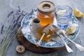 Картинка лимон, чай, мёд