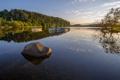 Картинка небо, деревья, озеро, лодки