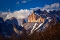 Картинка небо, облака, пейзаж, горы, природа, скала, Чили