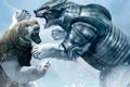 Картинка фентези, Свальбард, приключения, Панцербьёрны – бронированные медведи, снег, the golden compass, золотой компас