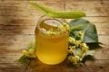 Картинка мед, листики, липовые цветы