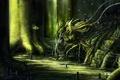 Картинка свет, темно, болото, монстр, арт, насекомое, youtsuu