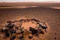 Картинка песок, камни, пустыня, Ливия